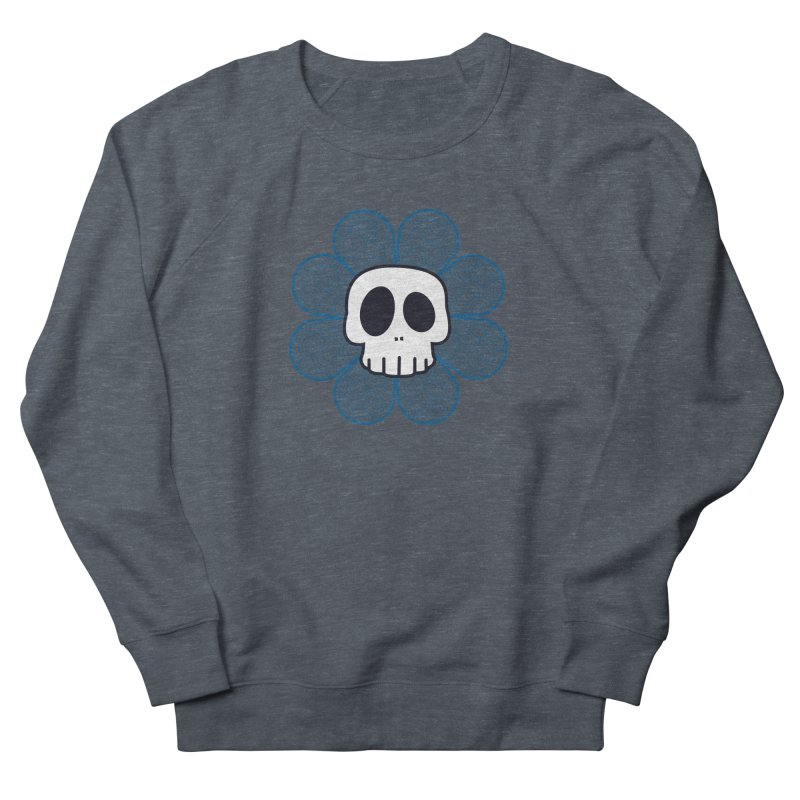Swirl Skull Flower Men's Sweatshirt by SkullyFlower's Sweetly Creepy Tees