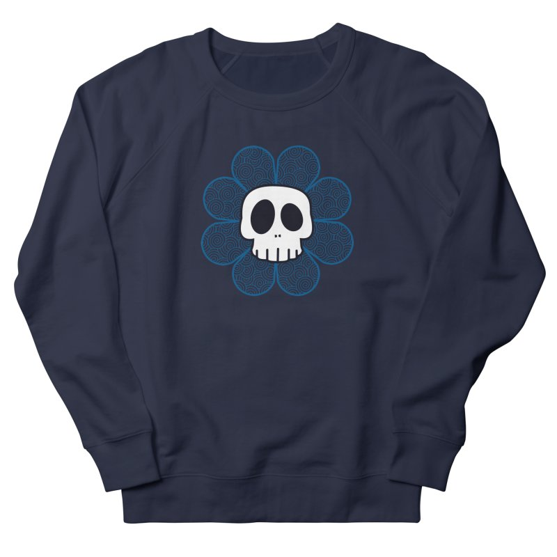 Swirl Skull Flower Men's French Terry Sweatshirt by SkullyFlower's Sweetly Creepy Tees
