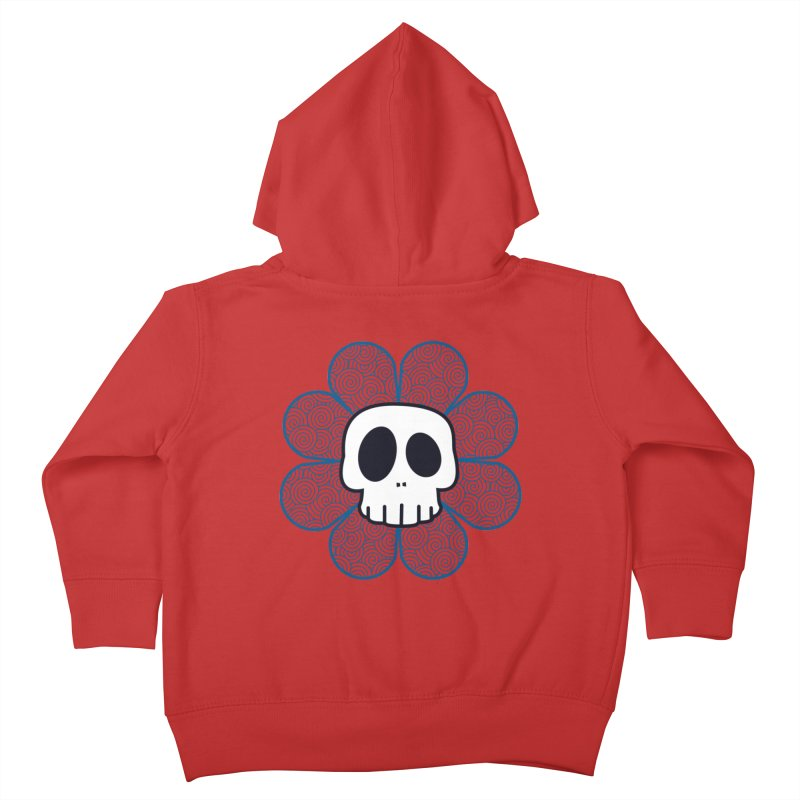 Swirl Skull Flower Kids Toddler Zip-Up Hoody by SkullyFlower's Sweetly Creepy Tees