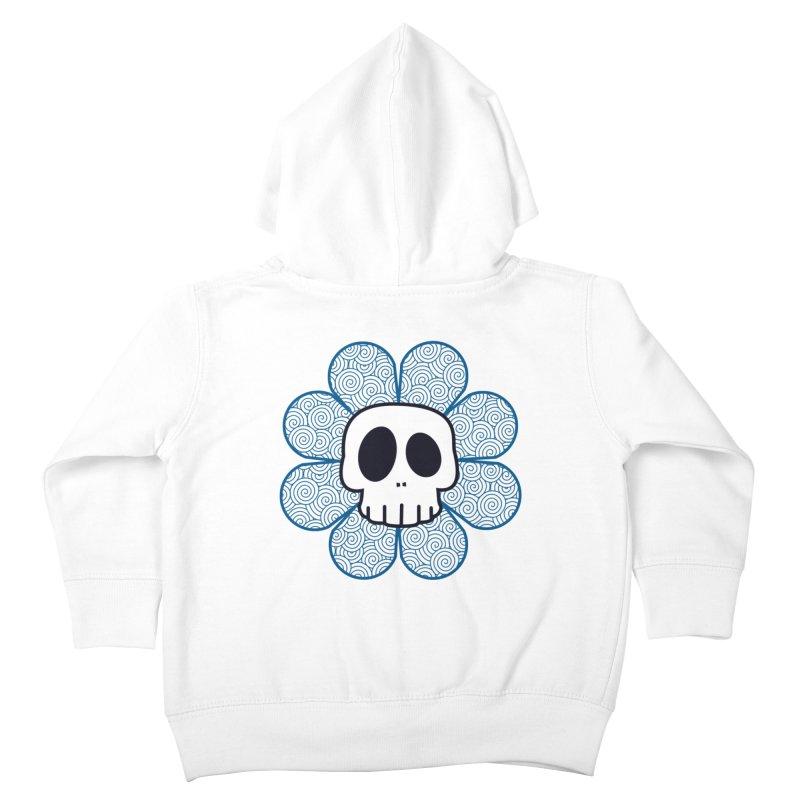 Swirl Skull Flower Kids Toddler Zip-Up Hoody by SkullyFlower's Sweetly Creepy Tees