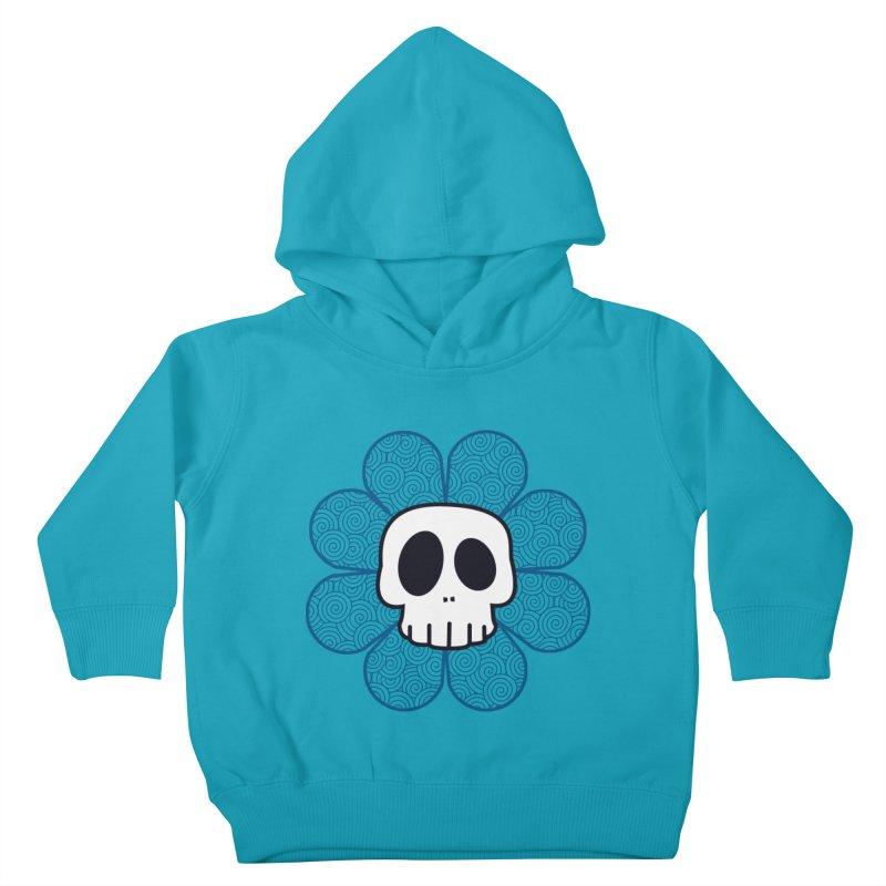 Swirl Skull Flower Kids Toddler Pullover Hoody by SkullyFlower's Sweetly Creepy Tees