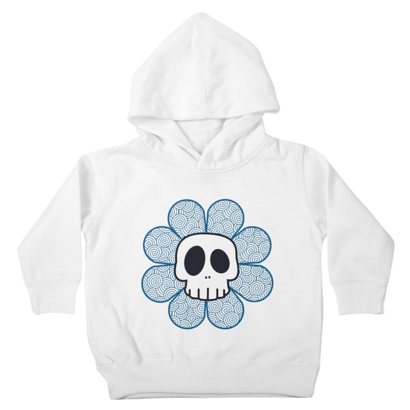 Swirl Skull Flower Kids Toddler Pullover Hoody by SkullyFlower's Sweetly Creepy Tees