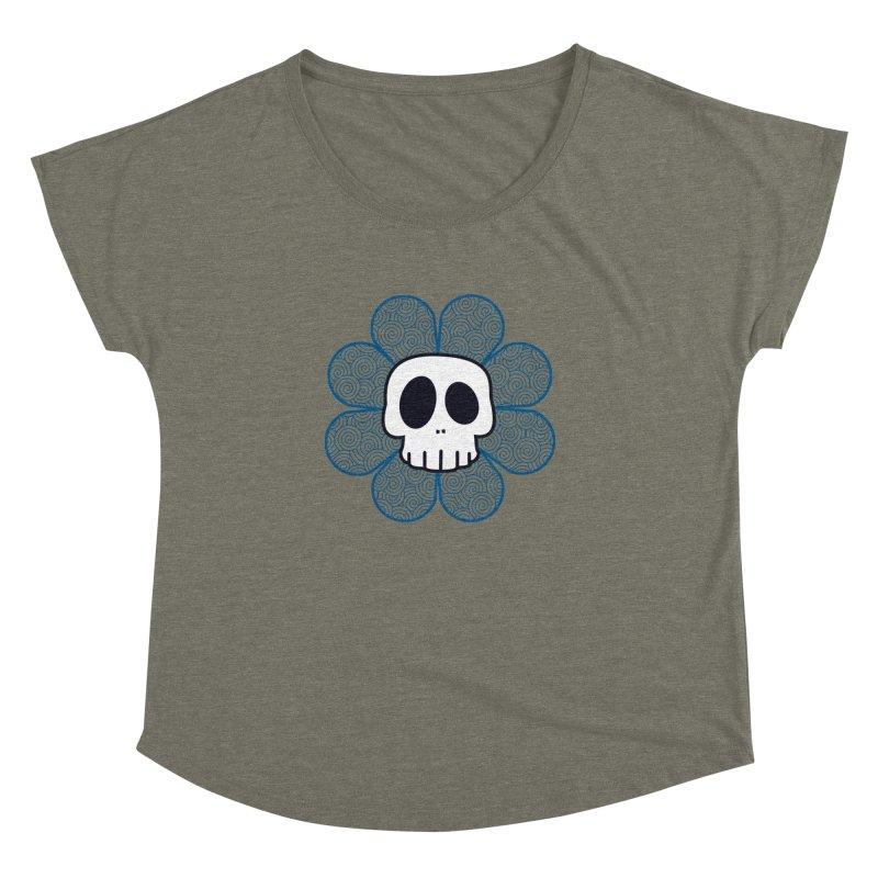Swirl Skull Flower Women's Dolman by SkullyFlower's Sweetly Creepy Tees