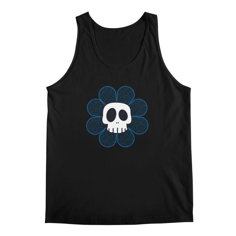 Swirl Skull Flower Men's Tank by SkullyFlower's Sweetly Creepy Tees