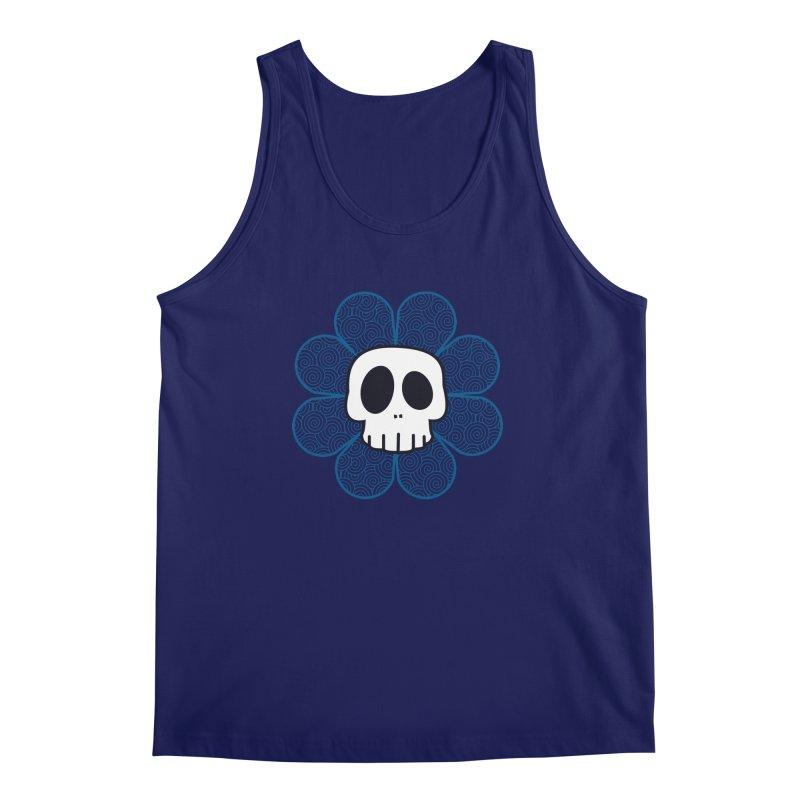 Swirl Skull Flower Men's Regular Tank by SkullyFlower's Sweetly Creepy Tees