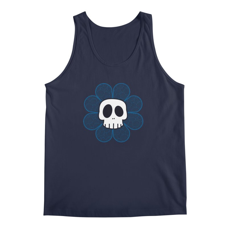 Swirl Skull Flower Men's Regular Tank by SkullyFlower's Sweetly Creepy Tees