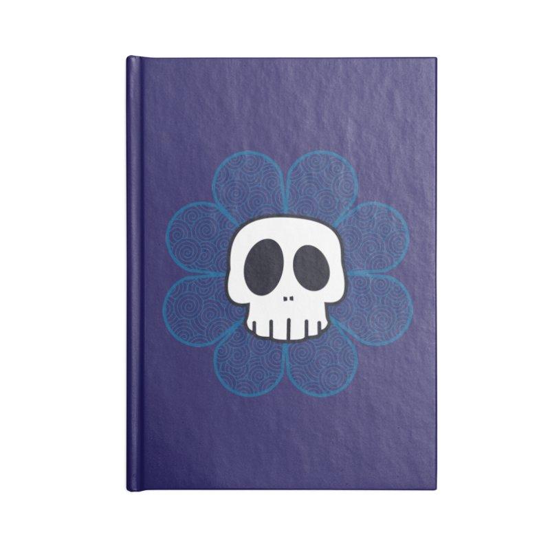 Swirl Skull Flower Accessories Blank Journal Notebook by SkullyFlower's Sweetly Creepy Tees