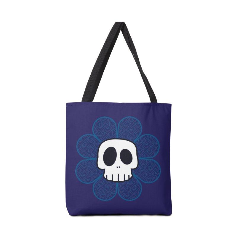 Swirl Skull Flower Accessories Bag by SkullyFlower's Sweetly Creepy Tees