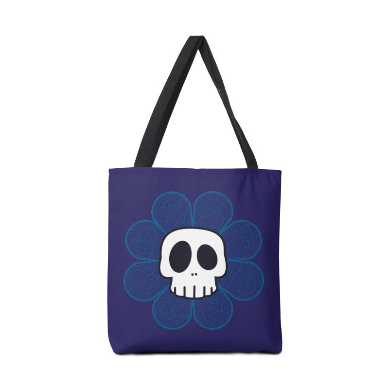 Swirl Skull Flower Accessories Bag by SkullyFlower's Sweetly Creepy Tees