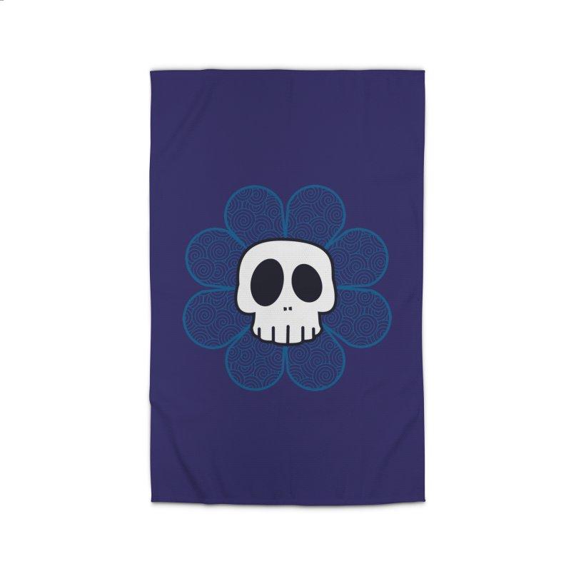 Swirl Skull Flower Home Rug by SkullyFlower's Sweetly Creepy Tees