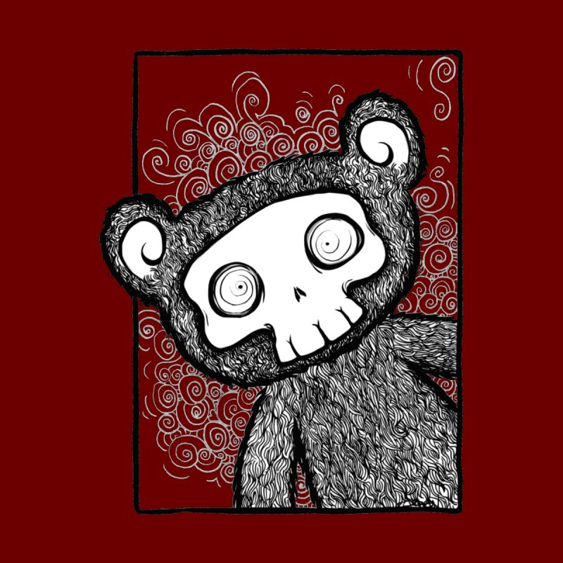 Skully Bear Gray Scale by SkullyFlower's Sweetly Creepy Tees