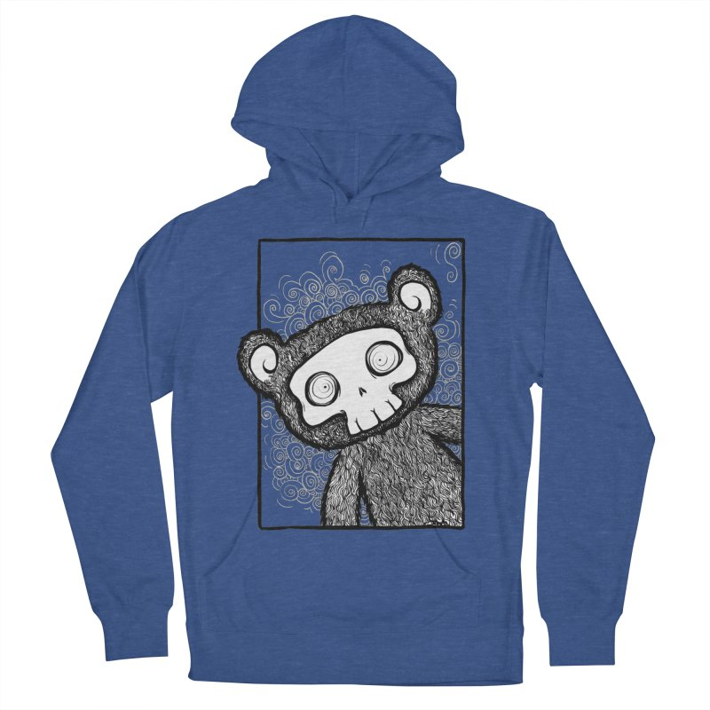 Skully Bear Gray Scale Women's Pullover Hoody by SkullyFlower's Sweetly Creepy Tees