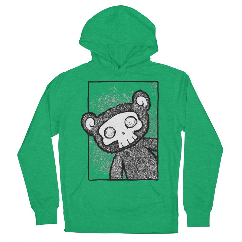 Skully Bear Gray Scale Men's Pullover Hoody by SkullyFlower's Sweetly Creepy Tees