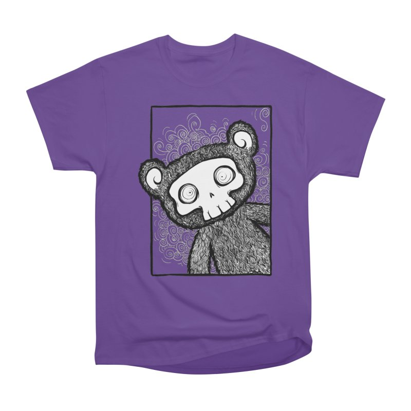 Skully Bear Gray Scale Women's Classic Unisex T-Shirt by SkullyFlower's Sweetly Creepy Tees