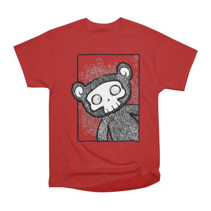 Skully Bear Gray Scale Men's Classic T-Shirt by SkullyFlower's Sweetly Creepy Tees