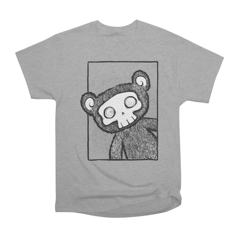Skully Bear Gray Scale Men's Classic T-Shirt by SkullyFlower's Sweetly Creepy Tees