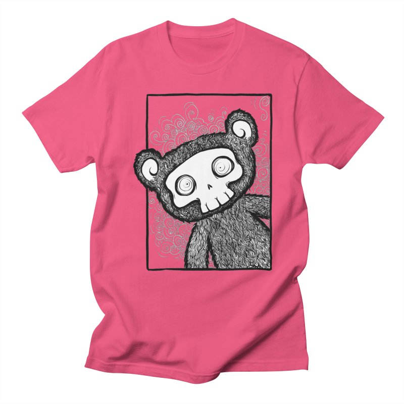 Skully Bear Gray Scale Women's Unisex T-Shirt by SkullyFlower's Sweetly Creepy Tees
