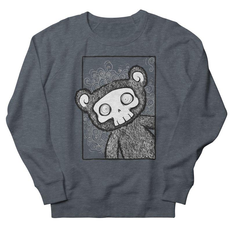 Skully Bear Gray Scale Women's Sweatshirt by SkullyFlower's Sweetly Creepy Tees