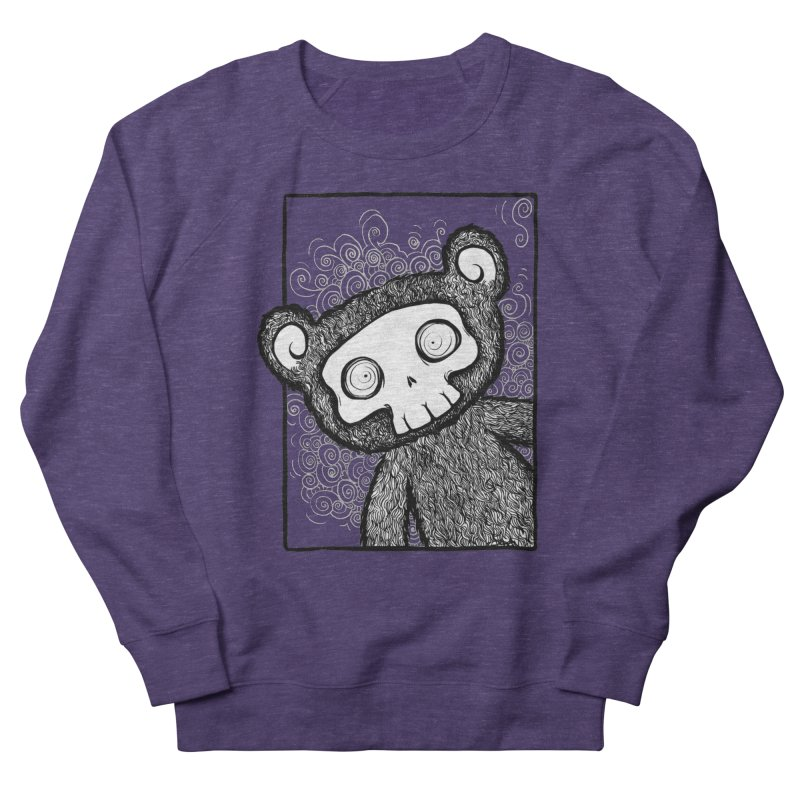 Skully Bear Gray Scale Men's Sweatshirt by SkullyFlower's Sweetly Creepy Tees