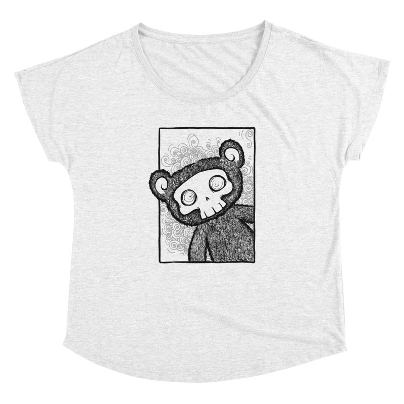 Skully Bear Gray Scale Women's Dolman by SkullyFlower's Sweetly Creepy Tees