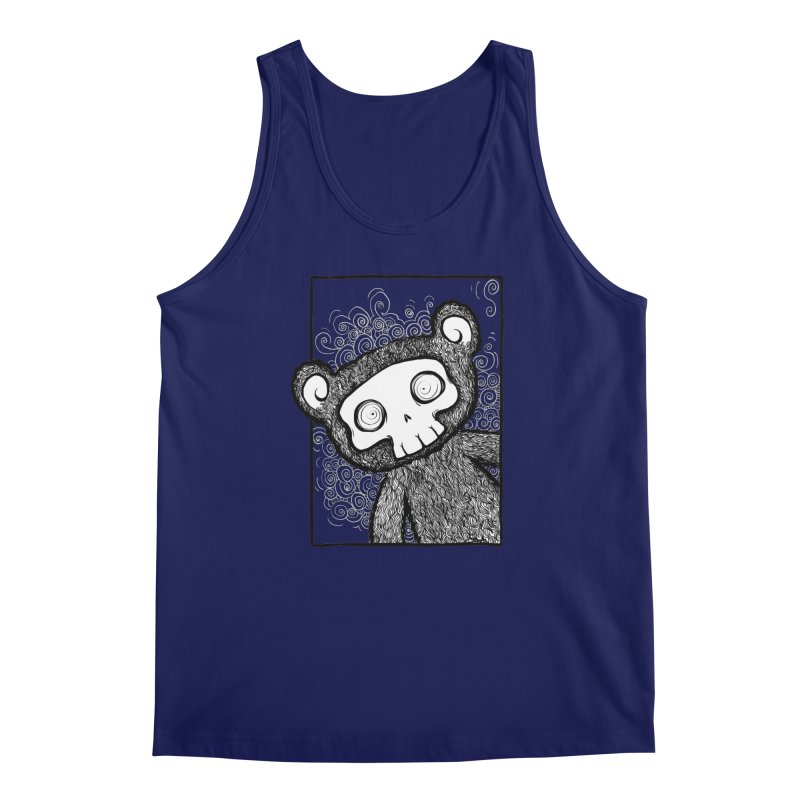 Skully Bear Gray Scale Men's Regular Tank by SkullyFlower's Sweetly Creepy Tees