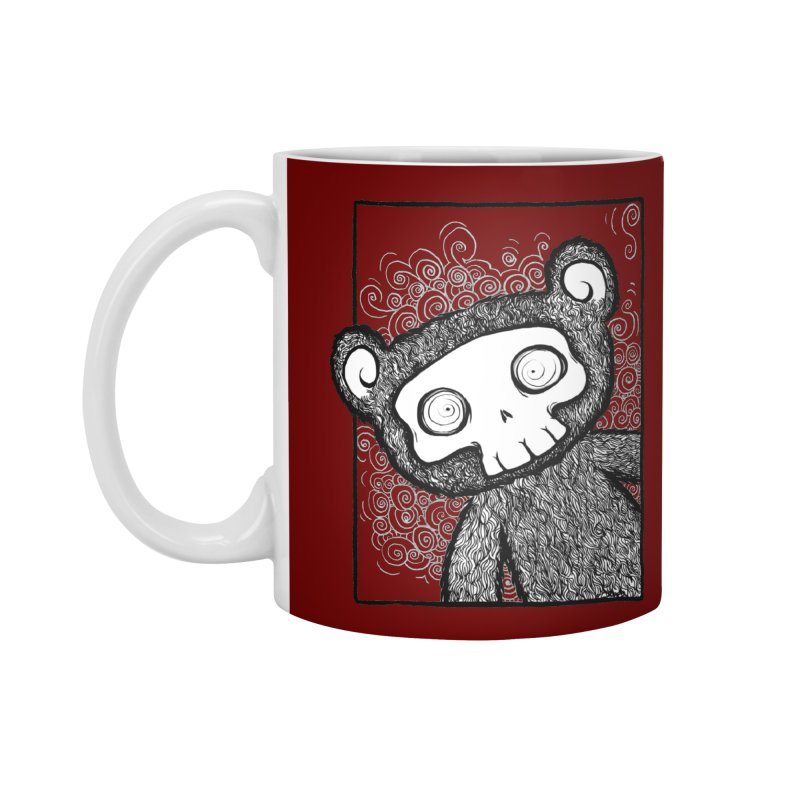 Skully Bear Gray Scale Accessories Mug by SkullyFlower's Sweetly Creepy Tees