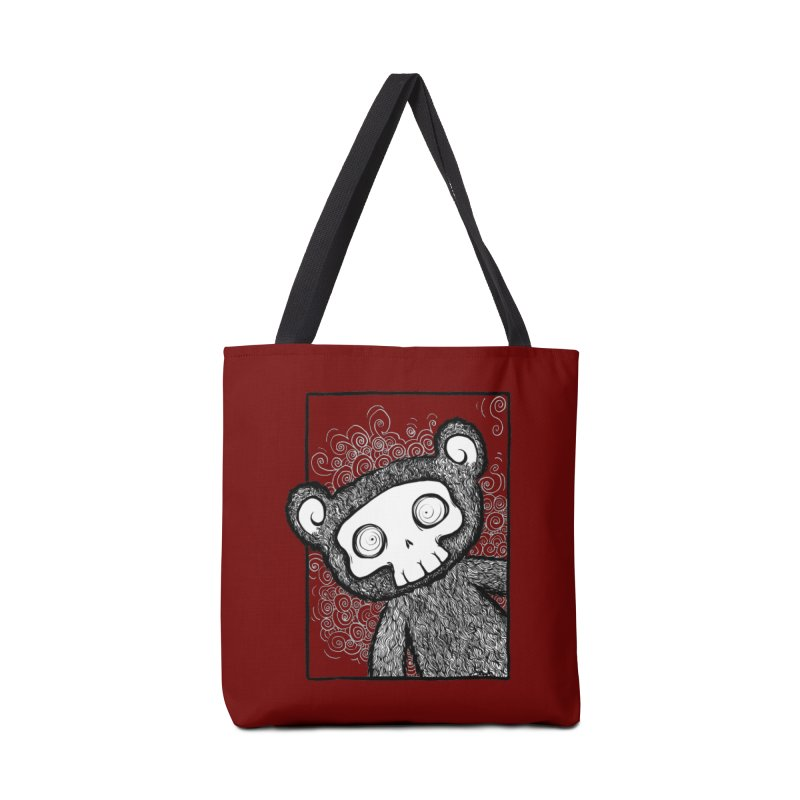 Skully Bear Gray Scale Accessories Bag by SkullyFlower's Sweetly Creepy Tees