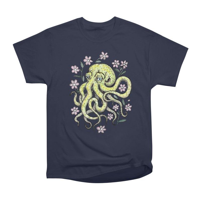 OctoFlowerPuss Men's Heavyweight T-Shirt by SkullyFlower's Sweetly Creepy Tees