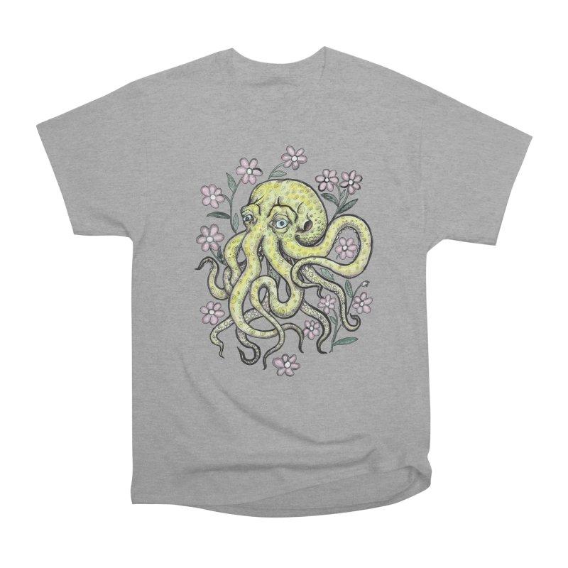 OctoFlowerPuss Women's Heavyweight Unisex T-Shirt by SkullyFlower's Sweetly Creepy Tees