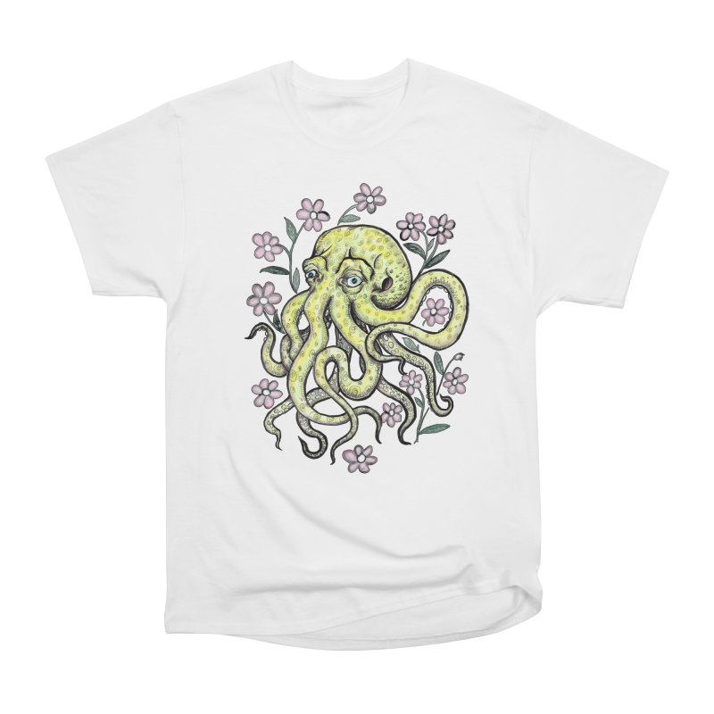OctoFlowerPuss Women's Heavyweight Unisex T-Shirt by SkullyFlower's Sweetly Creepy Tees