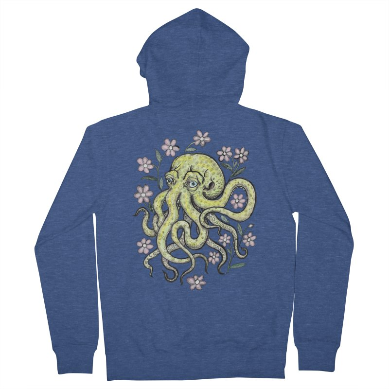 OctoFlowerPuss Women's French Terry Zip-Up Hoody by SkullyFlower's Sweetly Creepy Tees