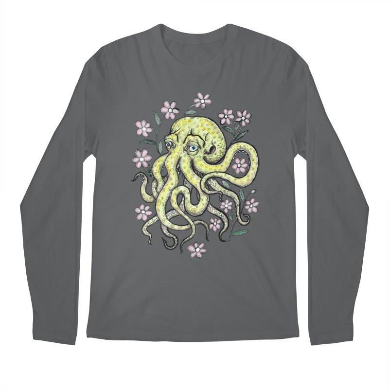 OctoFlowerPuss Men's Longsleeve T-Shirt by SkullyFlower's Sweetly Creepy Tees