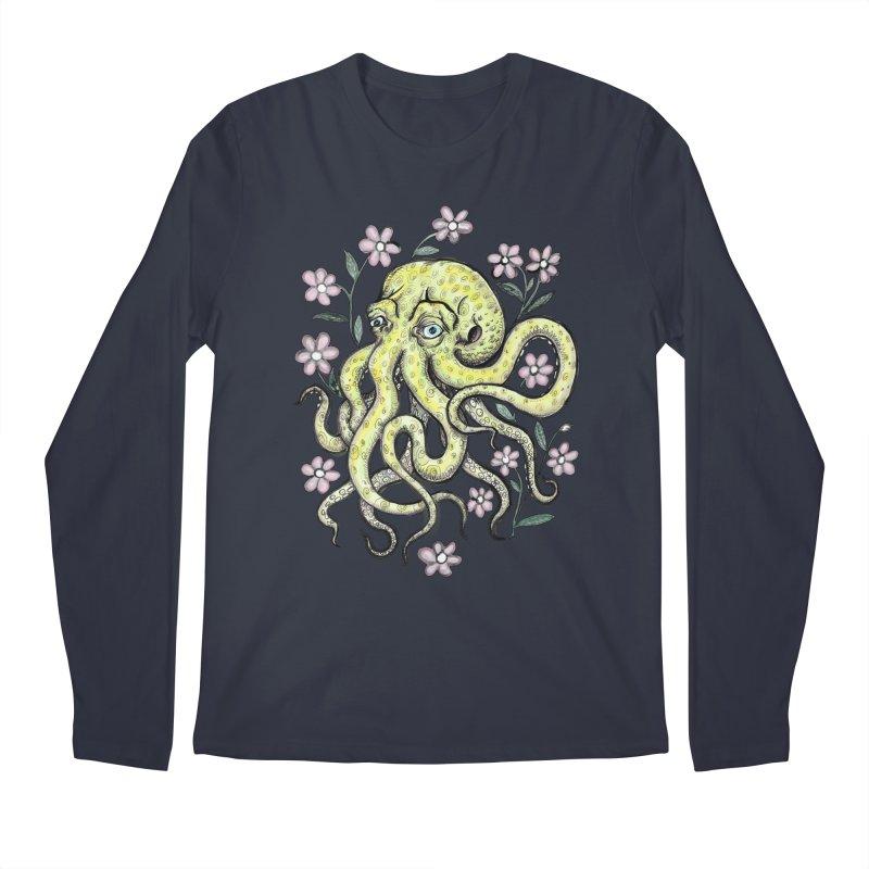 OctoFlowerPuss Men's Regular Longsleeve T-Shirt by SkullyFlower's Sweetly Creepy Tees
