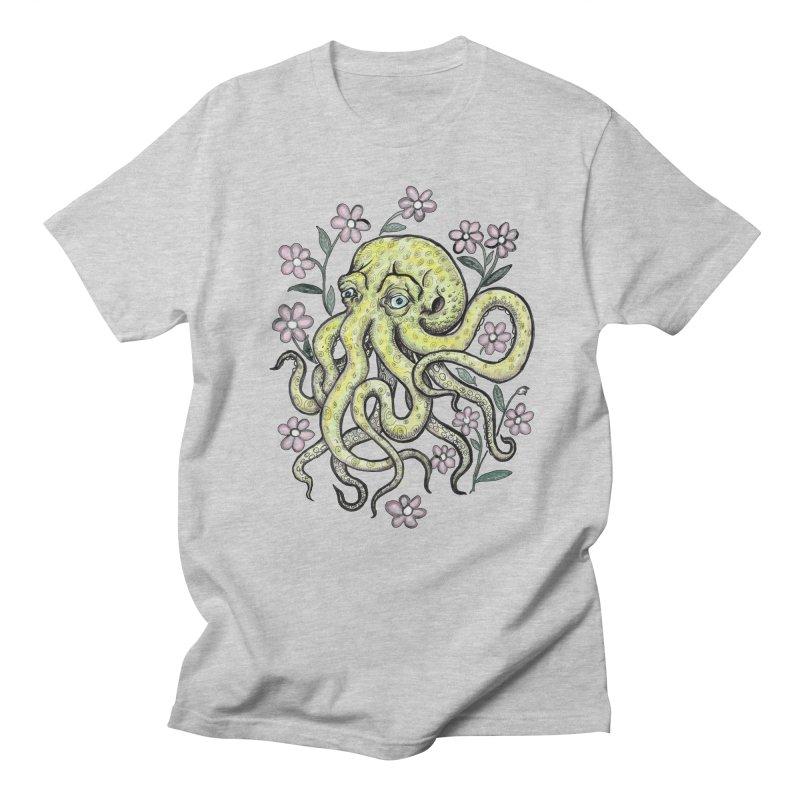 OctoFlowerPuss Men's T-shirt by SkullyFlower's Sweetly Creepy Tees
