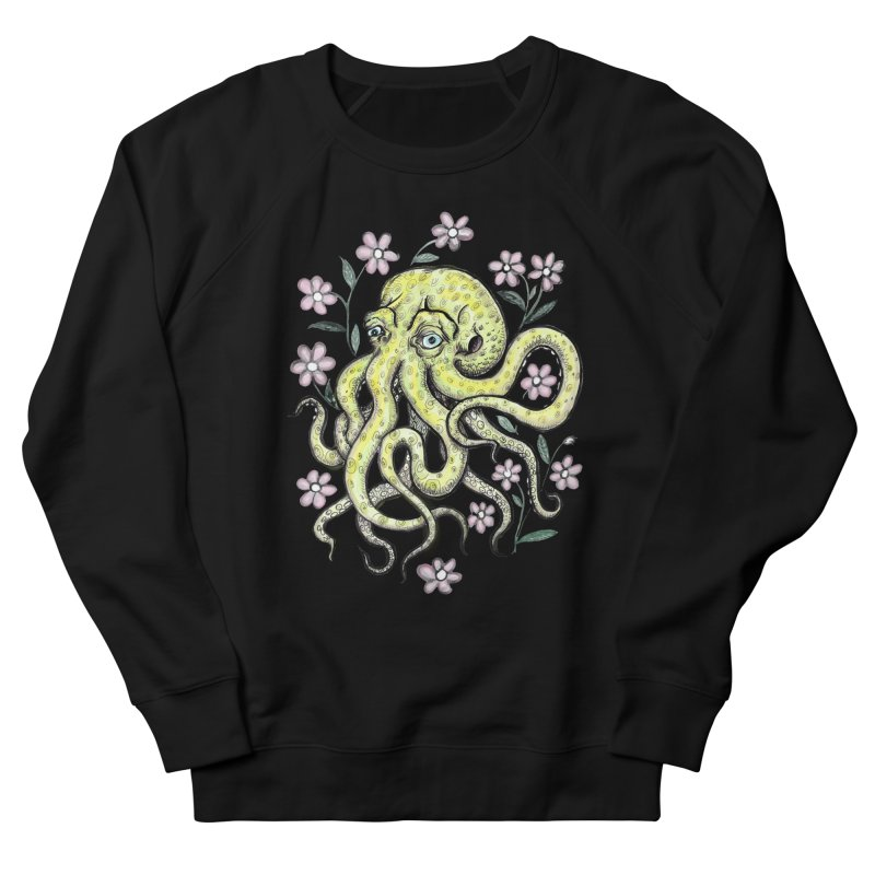 OctoFlowerPuss Women's French Terry Sweatshirt by SkullyFlower's Sweetly Creepy Tees