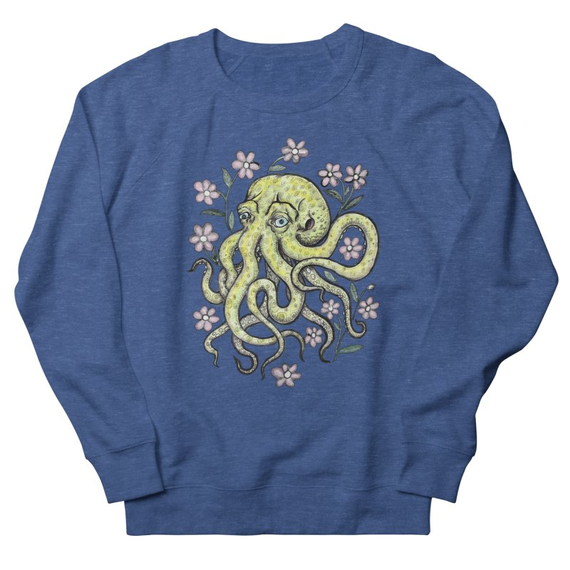 OctoFlowerPuss Men's French Terry Sweatshirt by SkullyFlower's Sweetly Creepy Tees