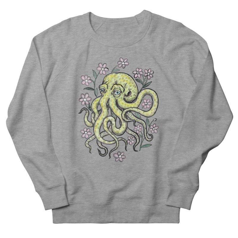 OctoFlowerPuss Men's French Terry Sweatshirt by SkullyFlower's Sweetly Creepy Tees