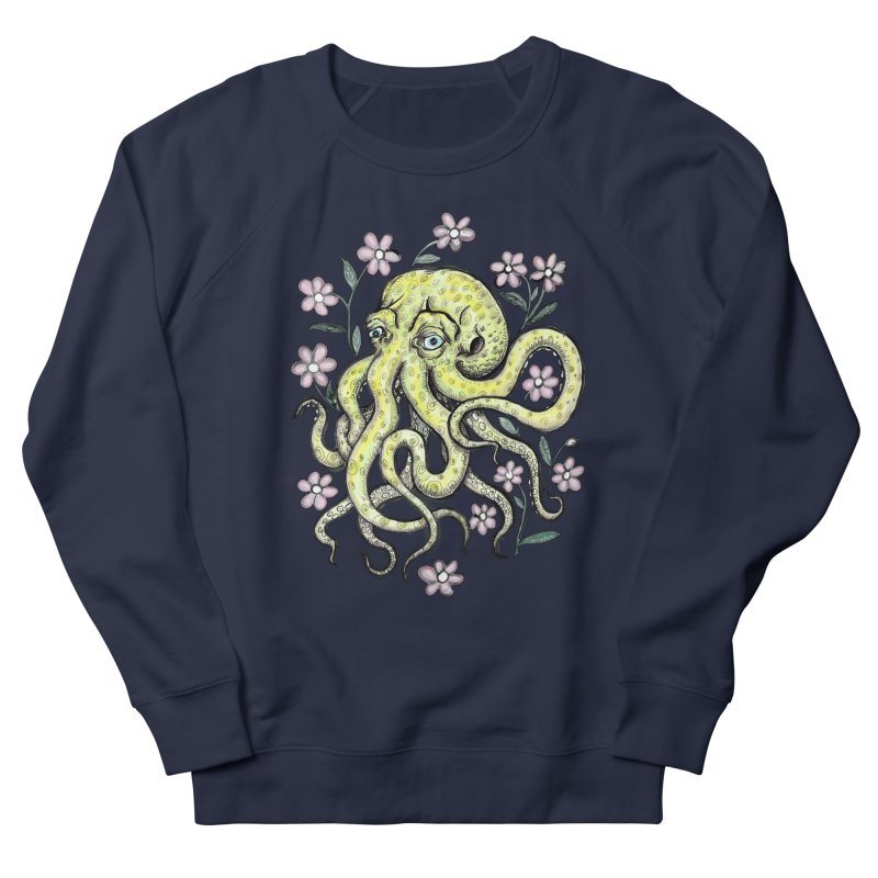 OctoFlowerPuss Men's Sweatshirt by SkullyFlower's Sweetly Creepy Tees
