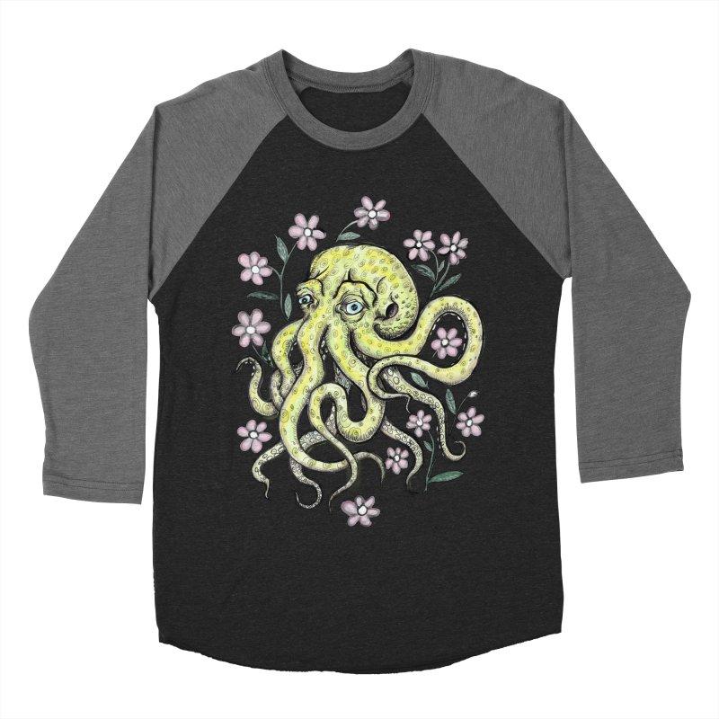 OctoFlowerPuss Men's Baseball Triblend T-Shirt by SkullyFlower's Sweetly Creepy Tees