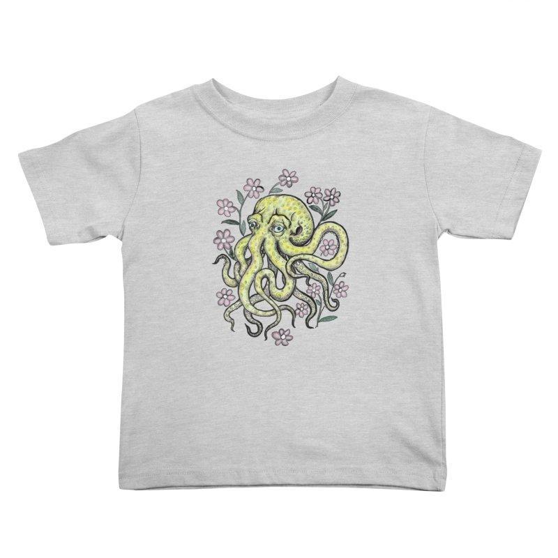 OctoFlowerPuss Kids Toddler T-Shirt by SkullyFlower's Sweetly Creepy Tees