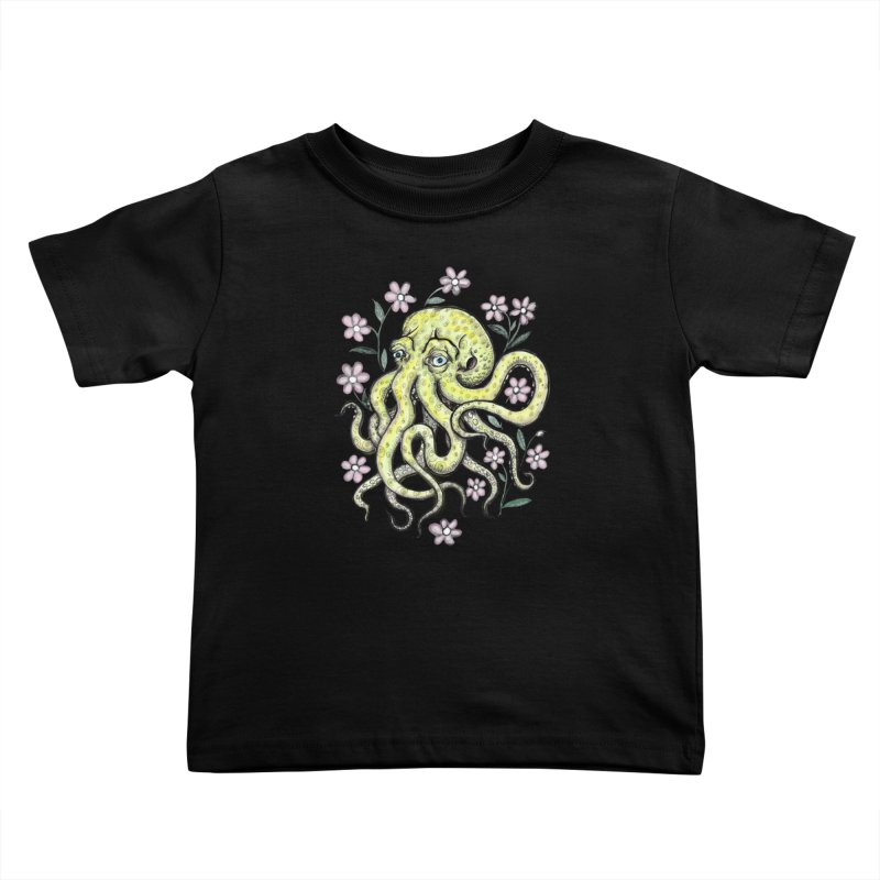 OctoFlowerPuss Kids Toddler T-Shirt by SkullyFlower's Sweetly Creepy Tees