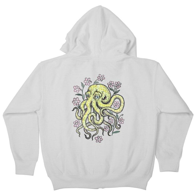 OctoFlowerPuss Kids Zip-Up Hoody by SkullyFlower's Sweetly Creepy Tees