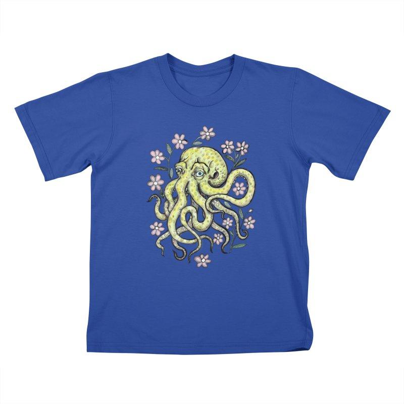 OctoFlowerPuss Kids T-Shirt by SkullyFlower's Sweetly Creepy Tees