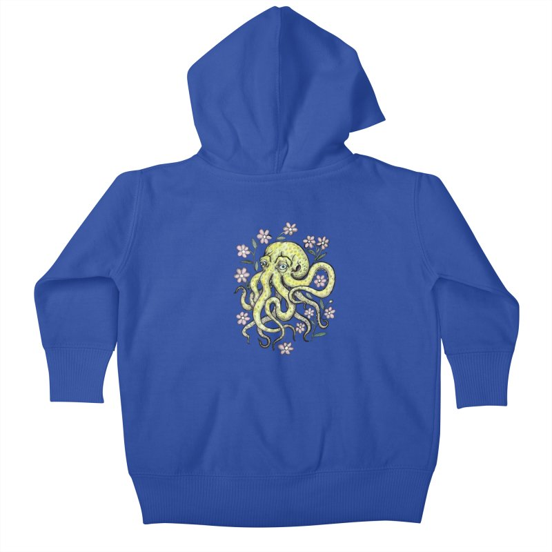 OctoFlowerPuss Kids Baby Zip-Up Hoody by SkullyFlower's Sweetly Creepy Tees