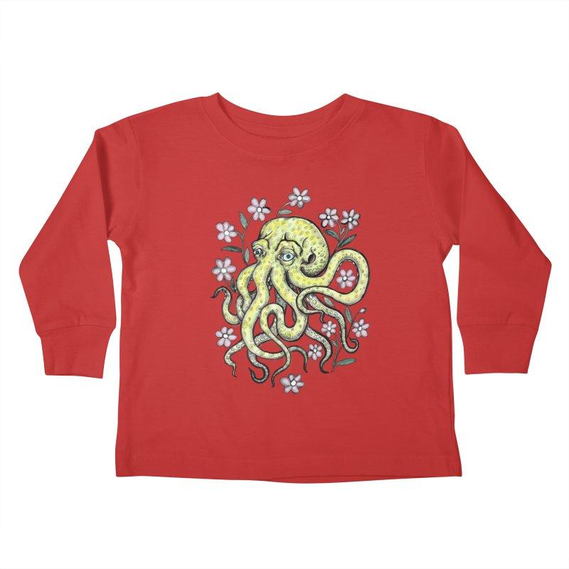 OctoFlowerPuss Kids Toddler Longsleeve T-Shirt by SkullyFlower's Sweetly Creepy Tees