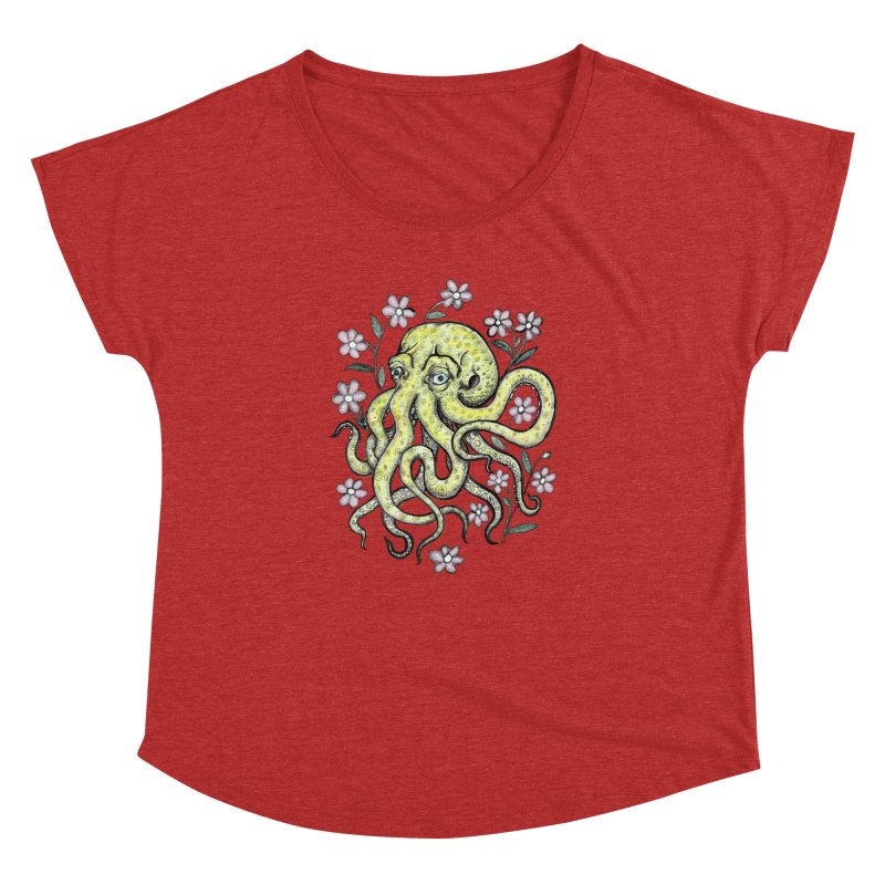 OctoFlowerPuss Women's Dolman Scoop Neck by SkullyFlower's Sweetly Creepy Tees