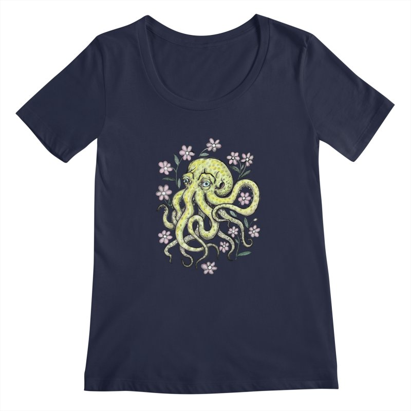 OctoFlowerPuss Women's Scoopneck by SkullyFlower's Sweetly Creepy Tees