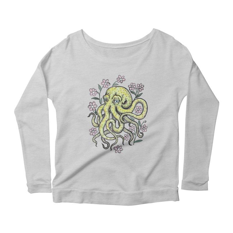 OctoFlowerPuss Women's Scoop Neck Longsleeve T-Shirt by SkullyFlower's Sweetly Creepy Tees
