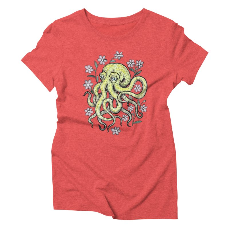OctoFlowerPuss Women's Triblend T-Shirt by SkullyFlower's Sweetly Creepy Tees