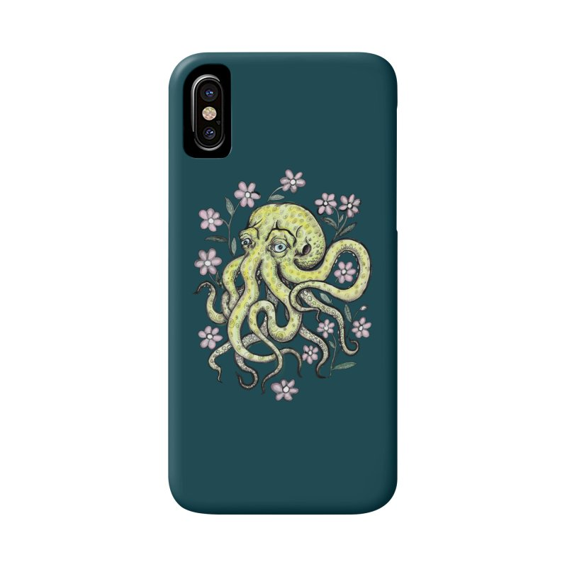 OctoFlowerPuss Accessories Phone Case by SkullyFlower's Sweetly Creepy Tees